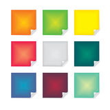 Post-it Note. S in vibrant gradient mesh Stock Images