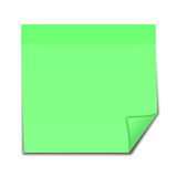 Post it note. Picture of green a post it note Stock Images