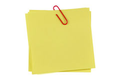 Post-It Note and Clip Royalty Free Stock Photos