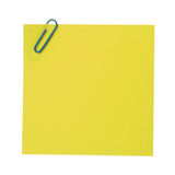 Post-It Note & Clip. Stock Image