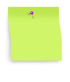 Post it note with clipping path Royalty Free Stock Photo
