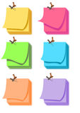 Post it note color set Stock Image