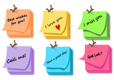 Post it note color set Royalty Free Stock Photography