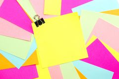 Post it note with colorful background Stock Image