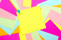 Post it note with colorful background Royalty Free Stock Images