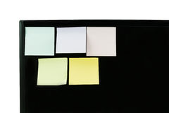 Post it note on computer screen Royalty Free Stock Photo