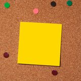 Post it note on cork stock photography