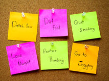 Post it note for healthy Stock Photos