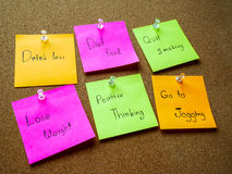 Post it note for healthy Royalty Free Stock Photo