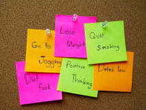 Post it note for healthy Stock Photography