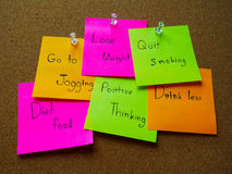 Post it note for healthy Stock Image
