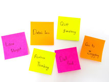 Post it note for healthy Royalty Free Stock Image