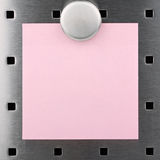 Post-it note I. Post it-notel with Magnet on a pinboard Stock Photos