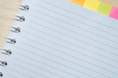 Post-it Note. On a notebook Stock Image