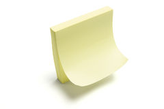 Post It Note Pad. On White Background Stock Images