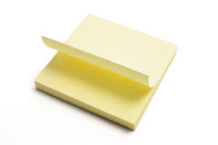 Post It Note Pad. On White Background Royalty Free Stock Images