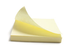 Post It Note Pad. On White Background Royalty Free Stock Photography