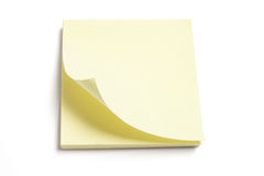 Post It Note Pad. On White Background Royalty Free Stock Image