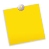 Post-it note paper. Yellow blank post-it note paper Royalty Free Stock Image
