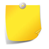 Post it note paper. Illustration of yellow post it note paper Royalty Free Illustration