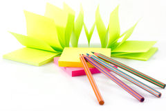 Post-it note paper Stock Photos