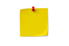 Post-it Note with Push Pin Royalty Free Stock Photos