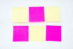 Post it note, short note, Note Take Note. In a reminder A major Royalty Free Stock Photos