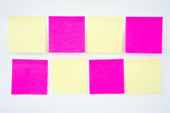 Post it note, short note, Note Take Note. In a reminder A major Royalty Free Stock Image