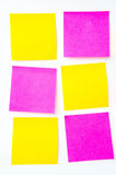 The Post it note, short note, Note Take Note. In a reminder A major Royalty Free Stock Photos