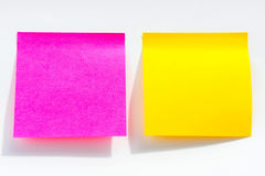 The Post it note, short note, Note Take Note. In a reminder A major Royalty Free Stock Image