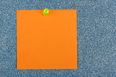 Post it note. On sparkling surface Royalty Free Stock Image