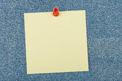 Post it note. On sparkling surface Stock Image
