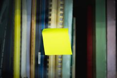 Post note stick stock photography