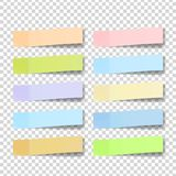 Post Note Sticker Vector. Color Sticky Notes.  3D Realistic Illustration. Post Note Sticker Vector. Paper Sticky Tape With Shadow. Adhesive Office Paper Tape Stock Photography