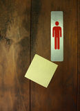 Post-it note/toilet Stock Photography