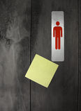 Post-it note/toilet Royalty Free Stock Photography