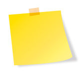 Post-it note. Vector shape of a post-it note Stock Image