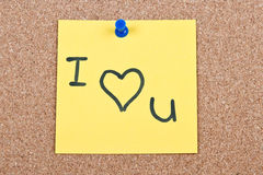 Post it note on wood Royalty Free Stock Image