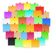 Post-It Notes. Circle made of color post-it notes Royalty Free Stock Photo