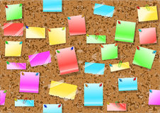 Post it notes background Royalty Free Stock Image