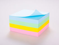Post it Notes. Block of vibrant multicoloured Post it Notes Royalty Free Stock Images