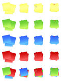 Post It Notes Colored EPS. Post-it notes in varying positions and colors. Available in vector EPS format Royalty Free Stock Image