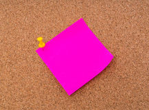 Post it notes on cork board . Stock Images