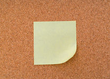 Post it notes on cork board . Stock Photos
