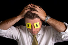 Post it notes for eyes Royalty Free Stock Image