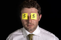 Post it notes for eyes Stock Photos