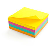 Post-it notes isolated Royalty Free Stock Photo