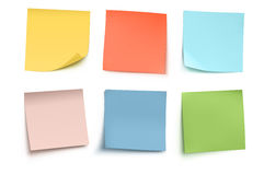 Post it notes. Vector illustration of multicolor post it notes isolated on white background Royalty Free Stock Image