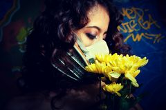 Post-nuclear flowers Stock Photo