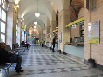 Post office. The waiting room in main post office in Rome Stock Photography